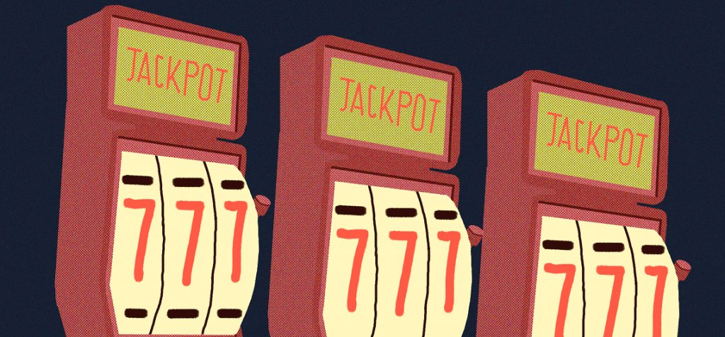 an illustration of slot machines signifying multi-armed bandit algorithm