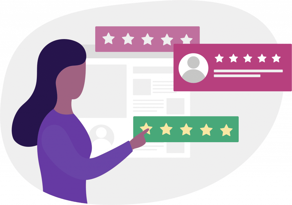an illustration of customer review on support tickets