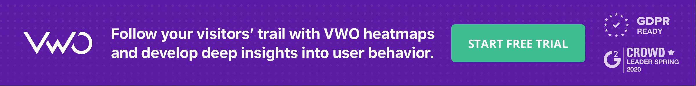Banner VWO heatmaps