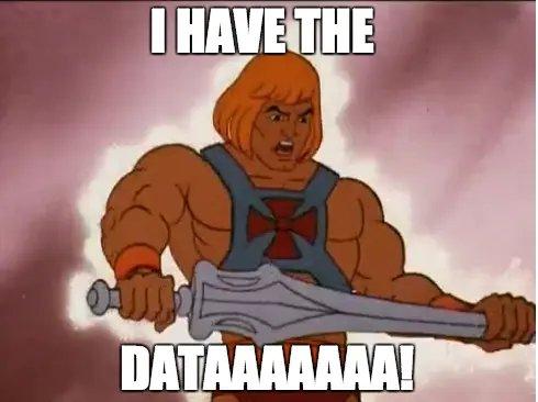 Meme On Having Data 2