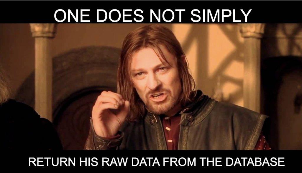 Meme On Returning Raw Data From Database