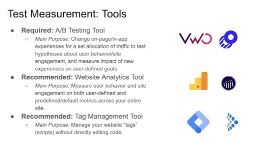 Requirement Of Test Measurement Tools On Websites