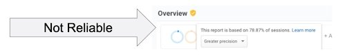 Take A Note Of The Yellow Check Mark In Google Analytics