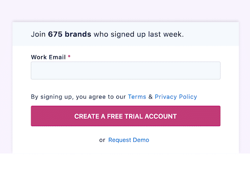 Sign Up Numbers On The Landing Page As Social Proof 1