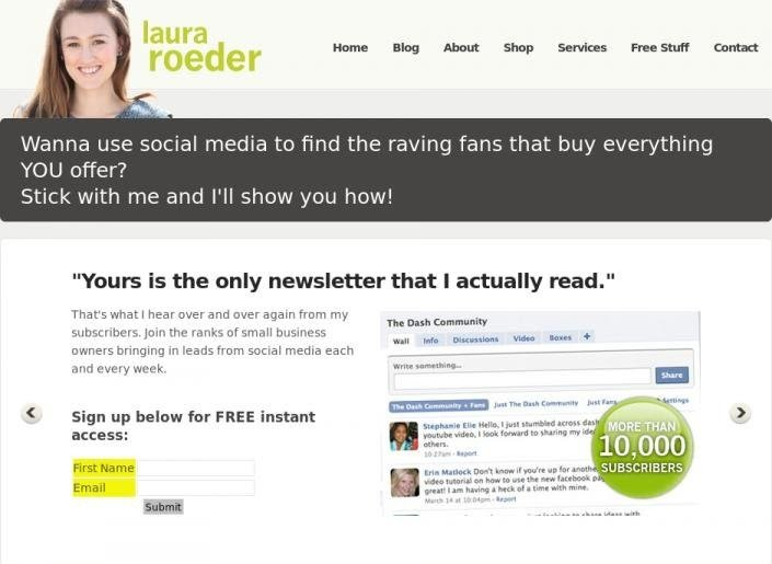 Adding A Testimonial For The Headline Improved Email Sign Ups