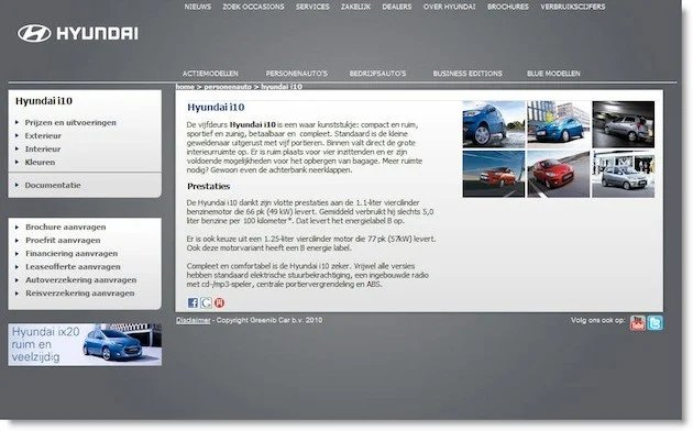 Control Of The Multivariate Test On Hyundais Car Landing Pages