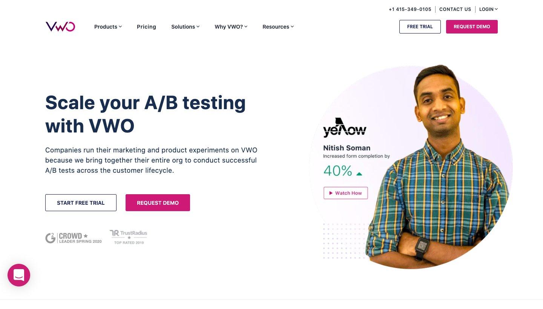 VWO's A/B Testing Tool