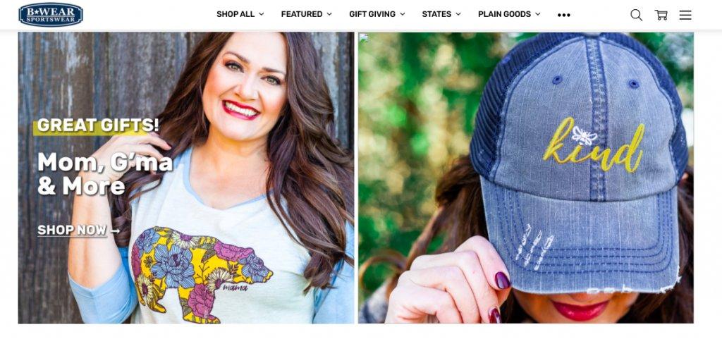B-Wear Sportswear Homepage