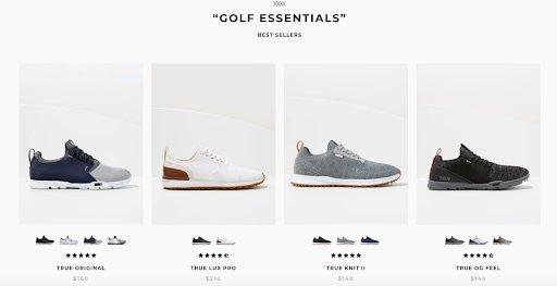 TRUE Linkswear Homepage