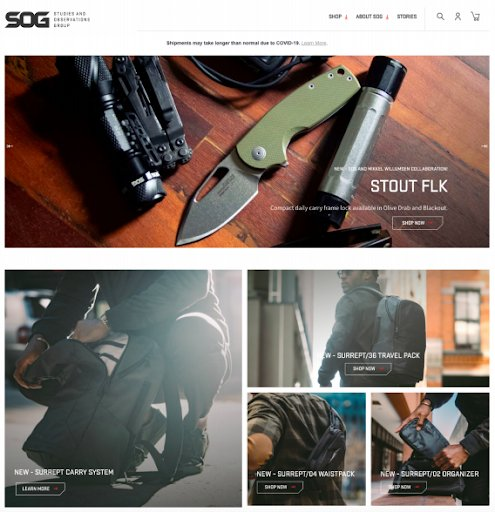 SUG Specialty Knives Homepage