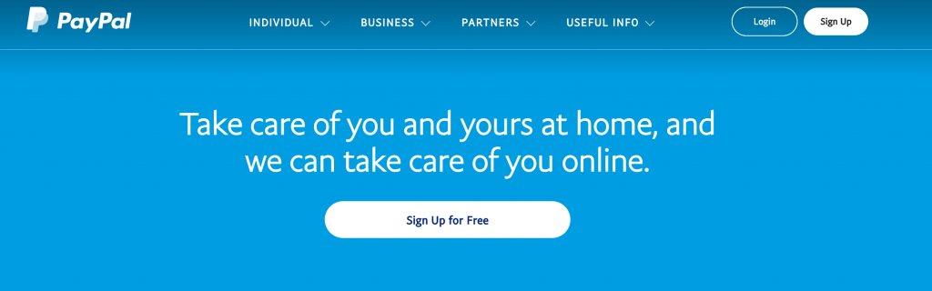 Paypal Homepage Cta