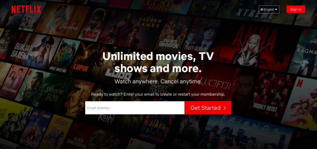 Netflix Creative CTA