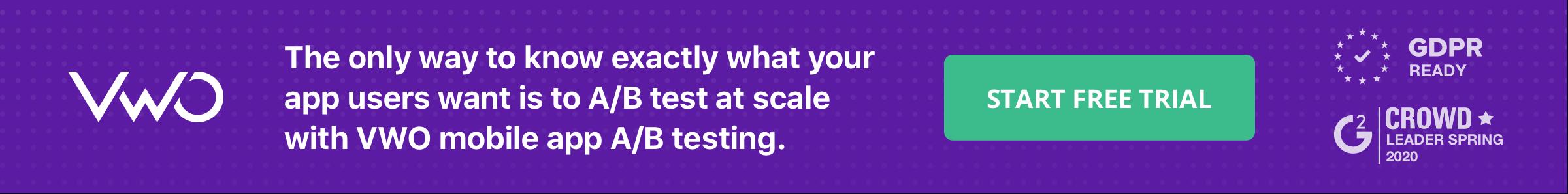 Blog Banner A/B test mobile apps