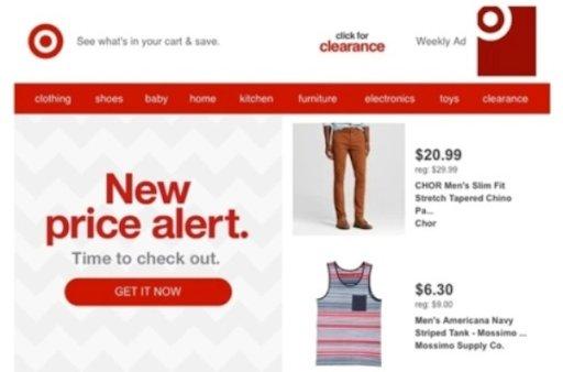new price alert