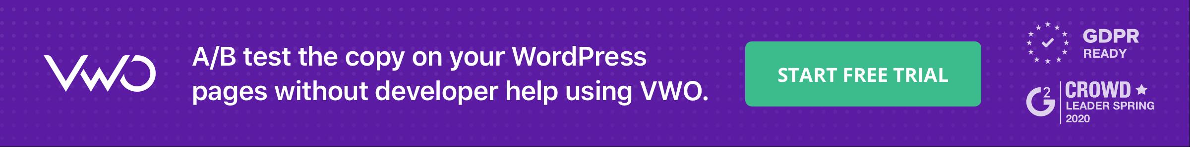 Blog Banner WordPress Ab Testing