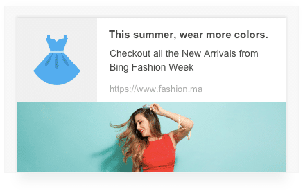 an example of rich push notifications within VWO Engage