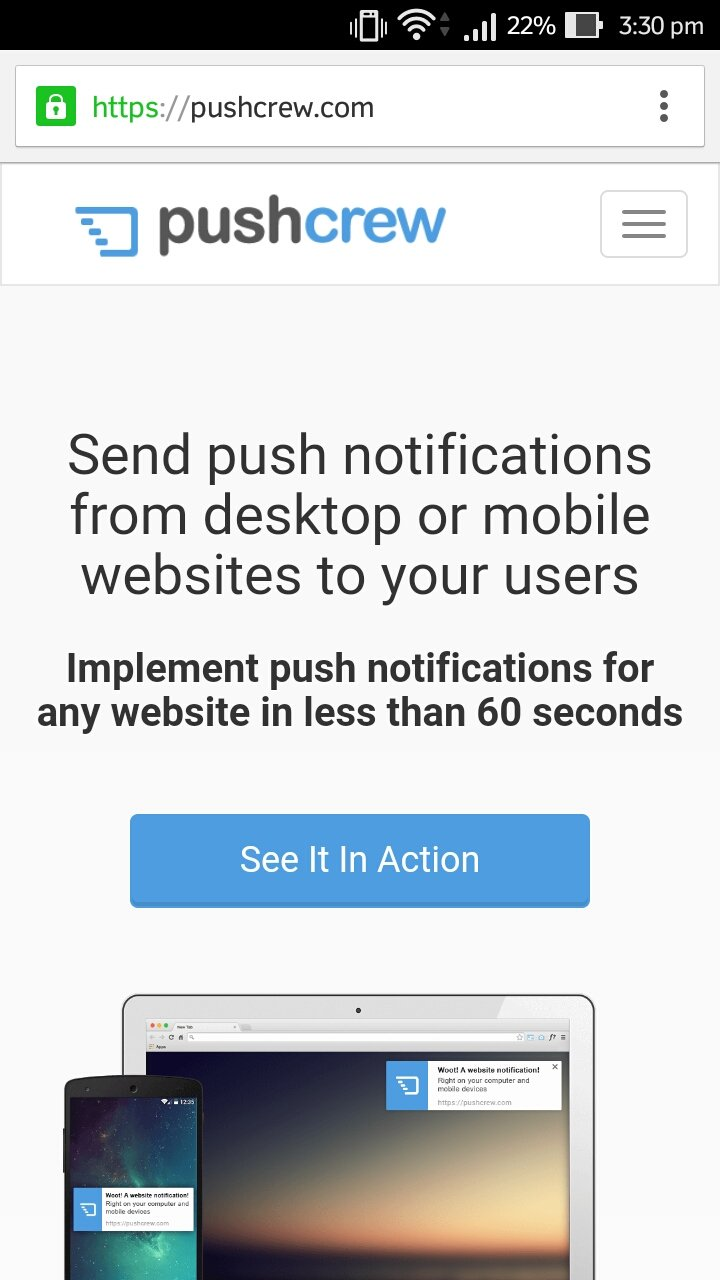 lock icon next to website on your android browser