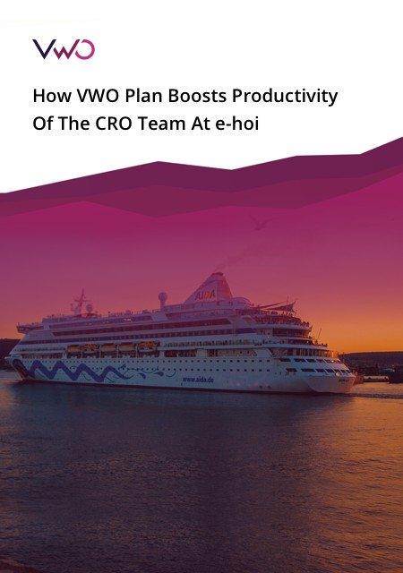 VWO Plan Boosts Productivity eBook