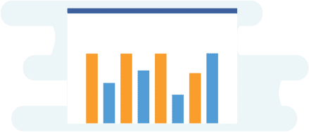 illustration showing a bar graph to highlight metrics