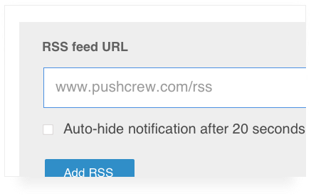 a screenshot of the rss feed feature