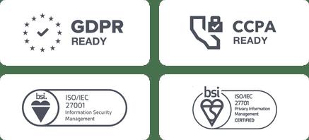 Banner mit allen Logos der VWO-Compliance-Zertifizierung