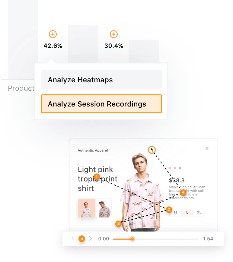session recordings within VWO Insights