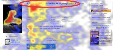 eye tracking on headline on amazon product page