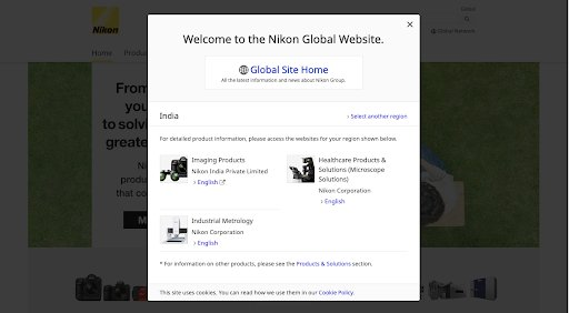 personalization on nikon's global ecommerce store