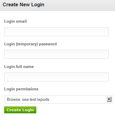 New account management features: permission based multiple logins