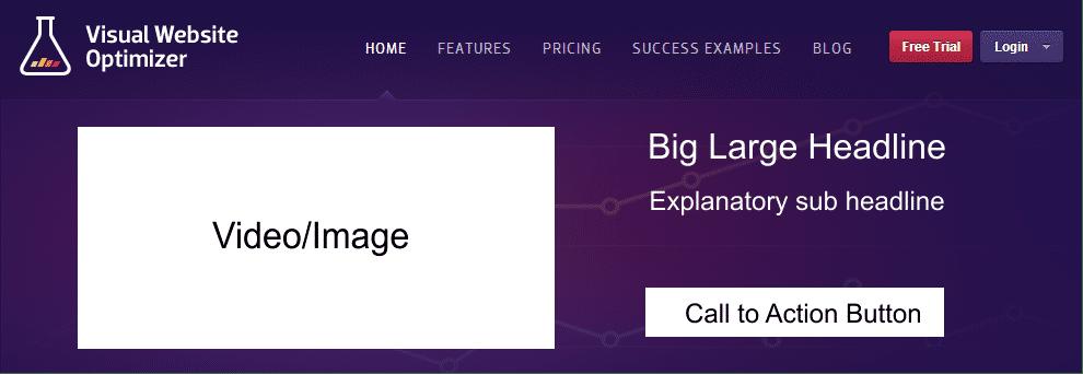 Visual Website Optimizer Homepage Variation