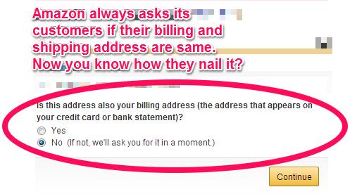 Amazon Billing Page