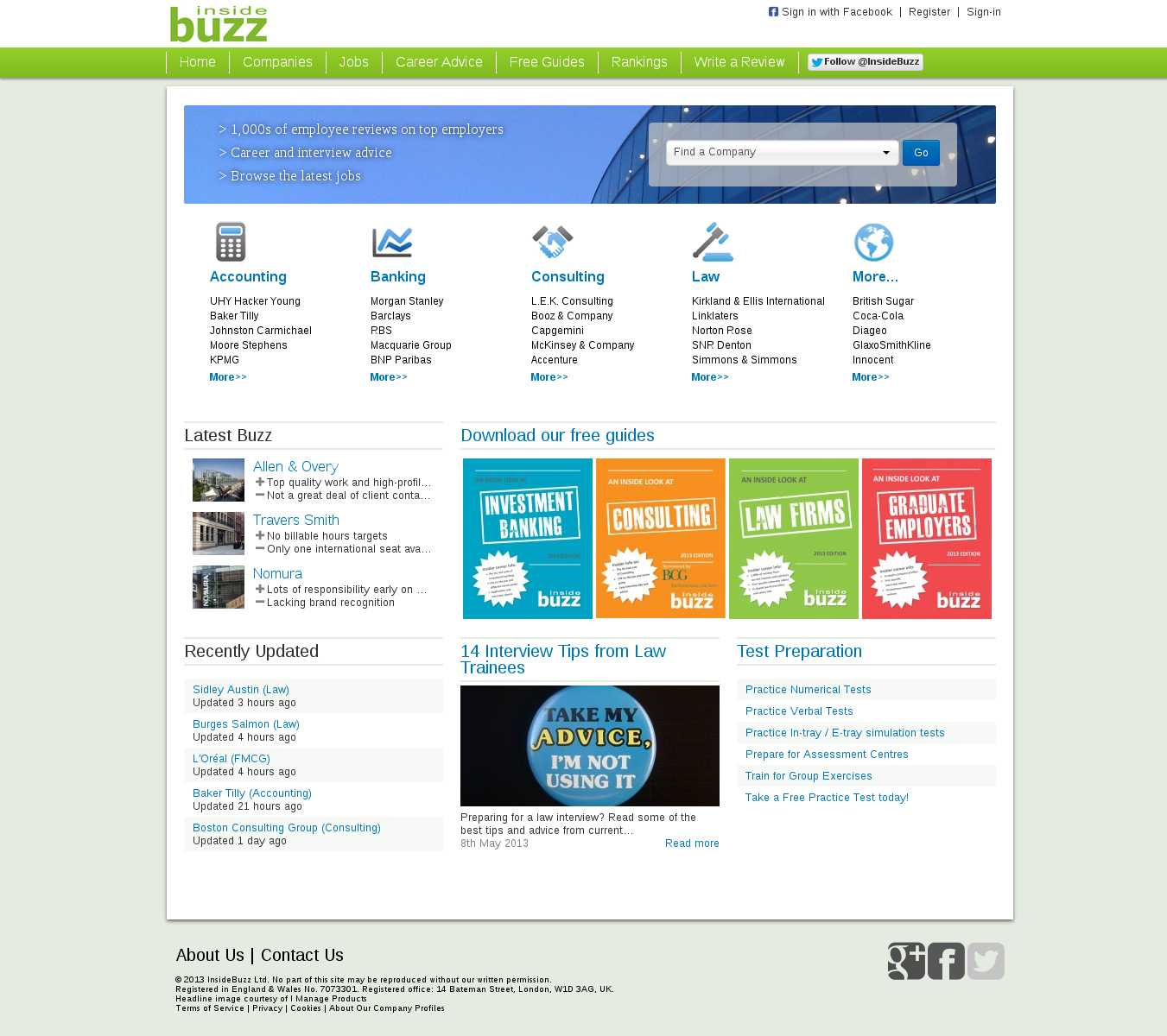 Insider Buzz Control Page