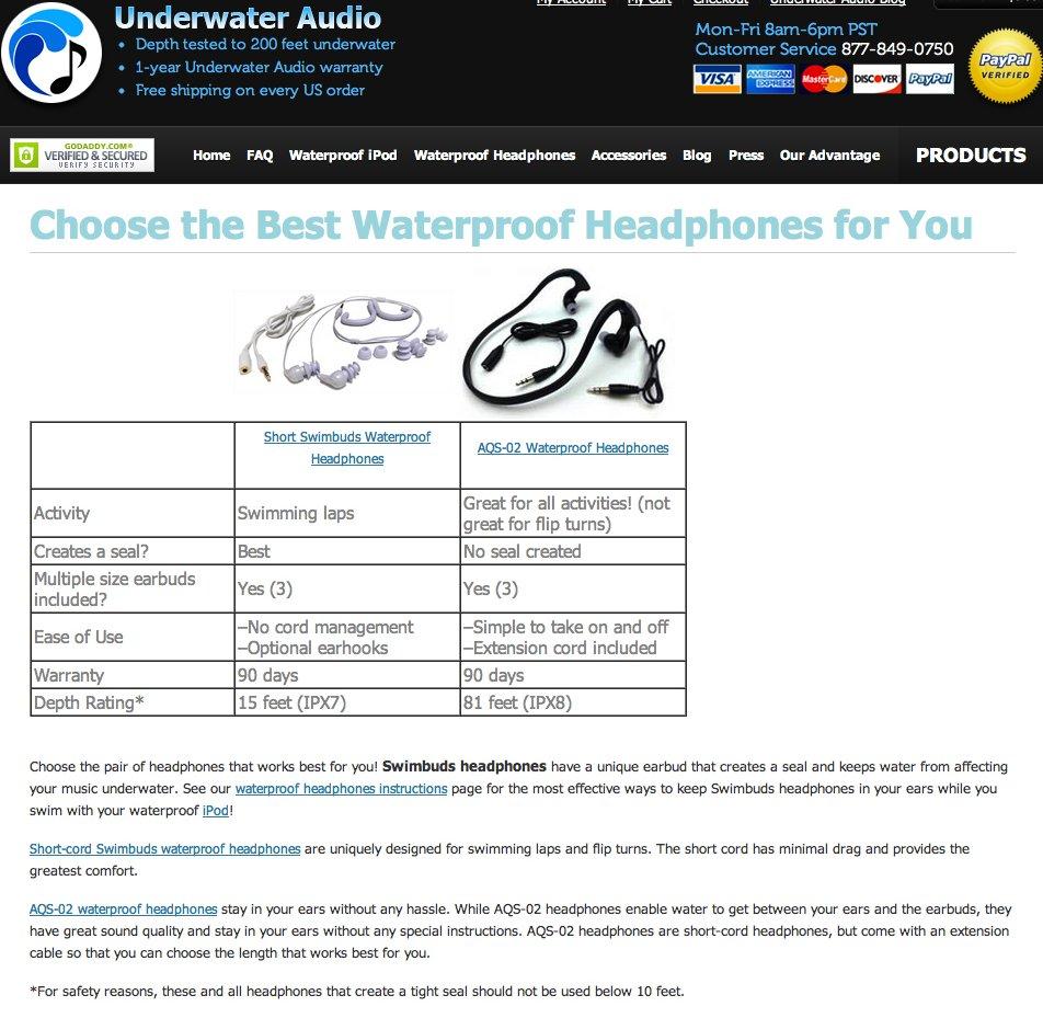 Underwater Audio Control Page