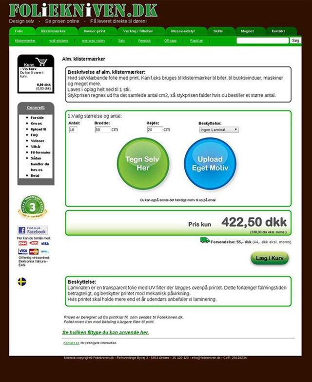 Foliekniven.dk Challenger Page