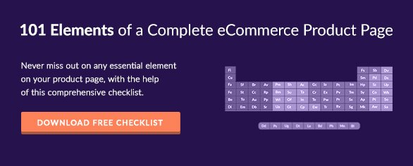 CTA to 101 Product Page Element Checklist eBook