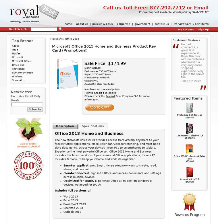 Royal Discount's Challenger page