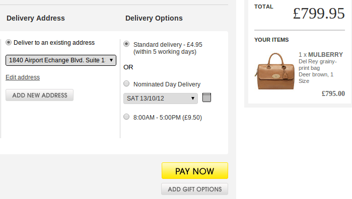 Allow your customers to choose their preferred delivery date
