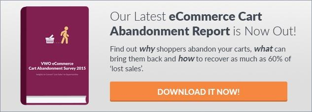 eCommerce Cart Abandonment Report 2016 CTA