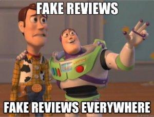 Fake reviews everywhere