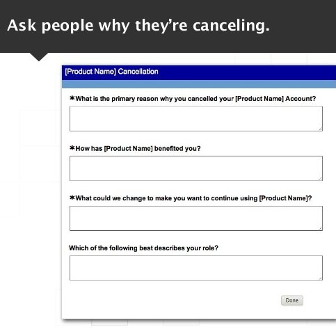 Cancellation survey
