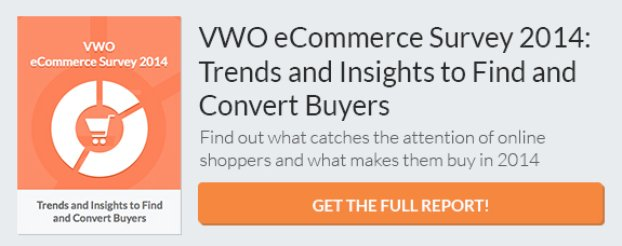 VWO eCommerce Report 2014 CTA