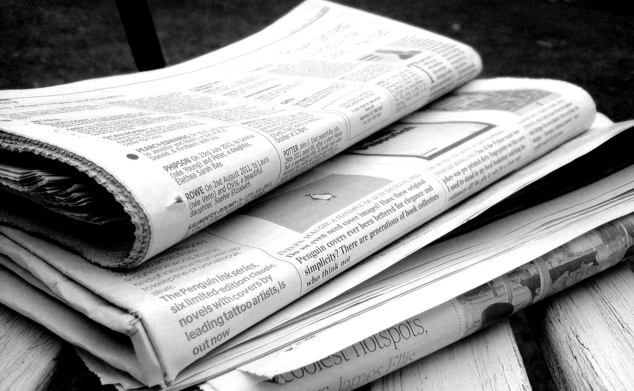 News Paper Above the fold