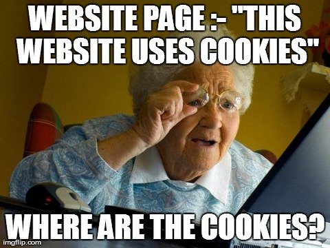 Website cookies funny image