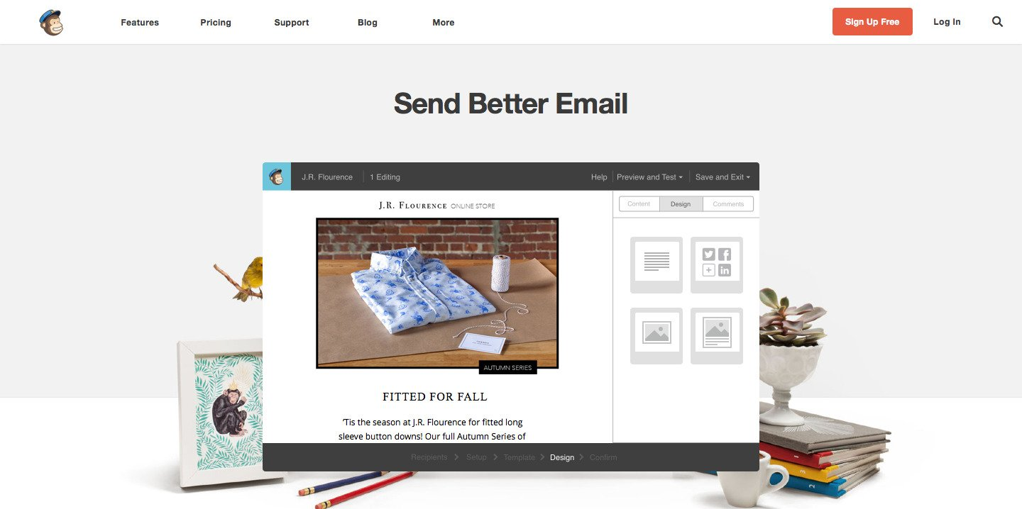 Mailchimp Above the fold