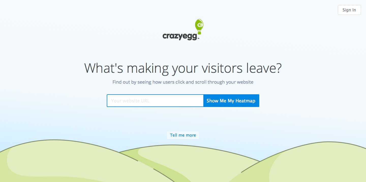 Crazy Egg Flat design website