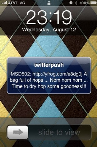 an example of sending push notification in mobile apps