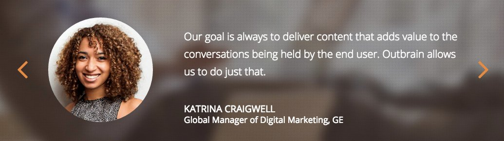 Katrina Craigwell at GE for Outbrain