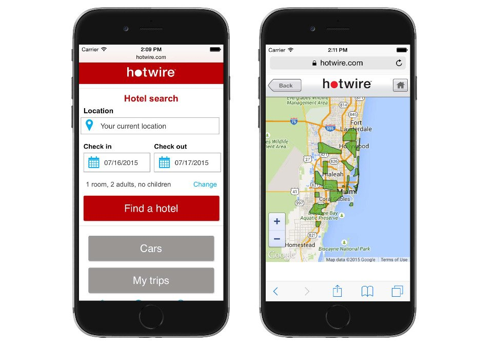Mobile Optimization for Travel Example
