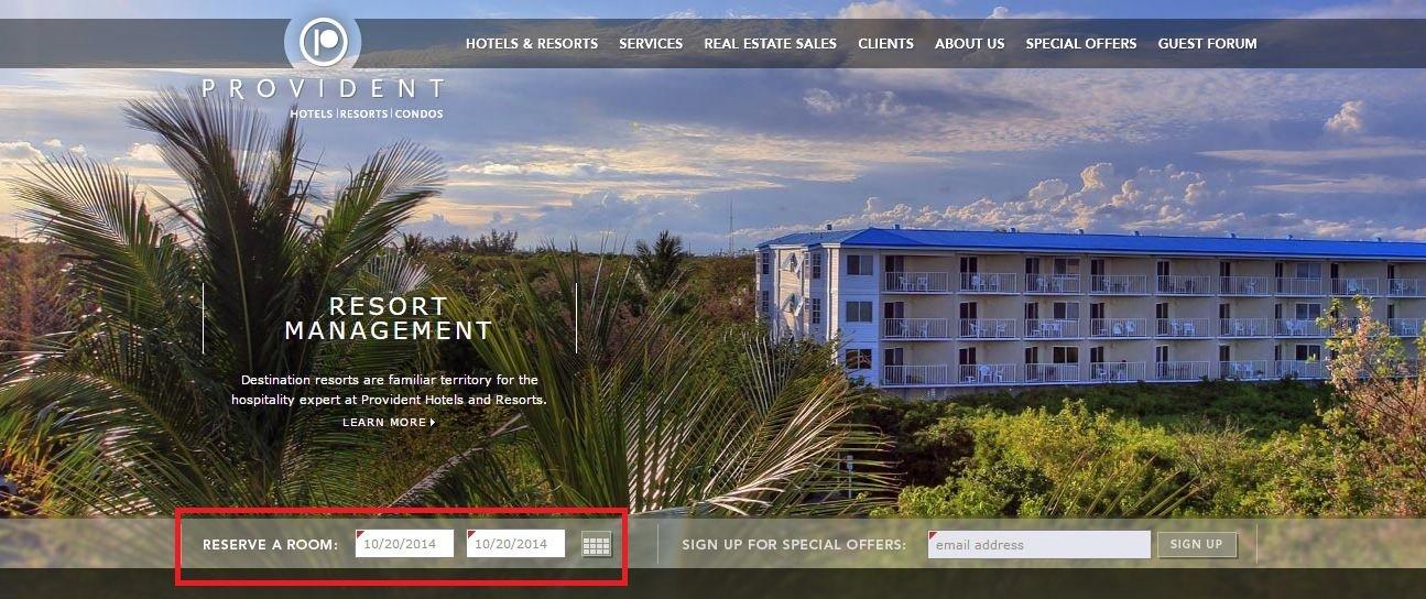 Travel Website Clear CTA