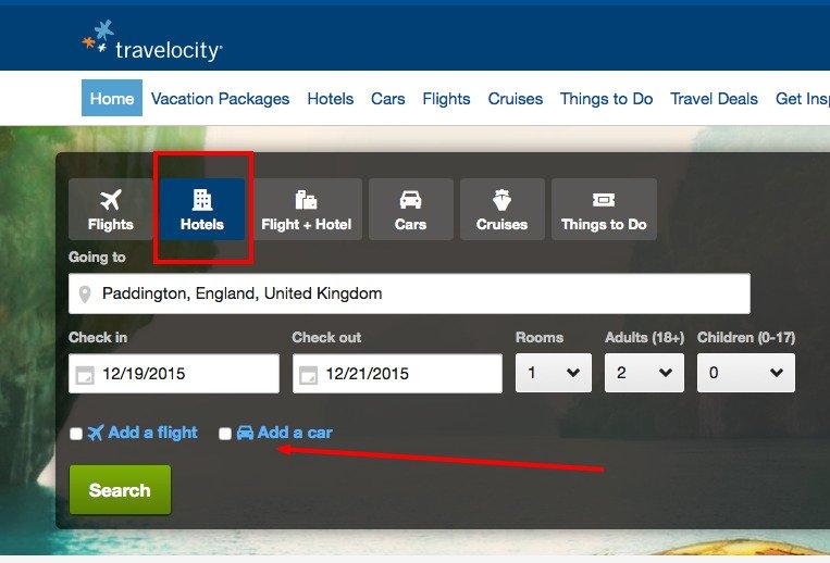 Travelocity Cross-sell example 2